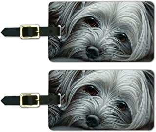 Yorkshire Terrier Yorkie Tired Sleepy Dog Pinback Button Pin Badge