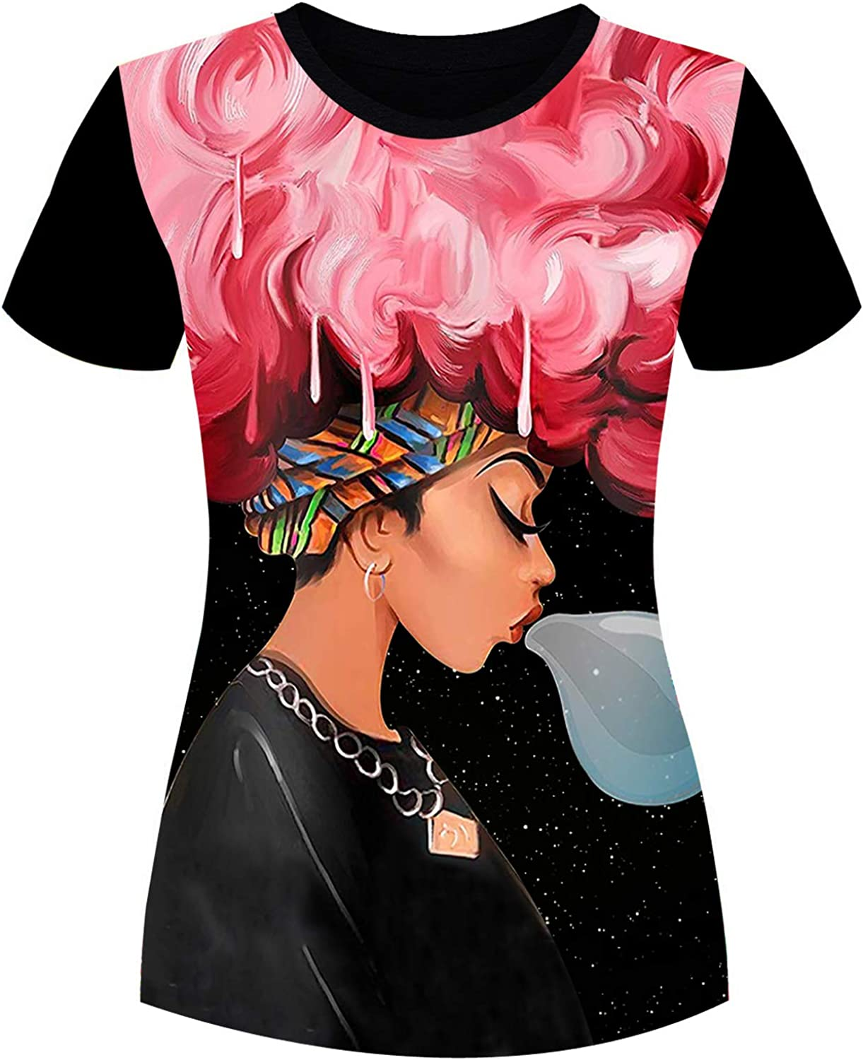 AZPSRT Women's T-Shirts All items free shipping Black History Word Art Month Natura Afro Over item handling ☆