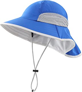 Kid's Breathable UV Sun Protection Beach Hat with Neck...
