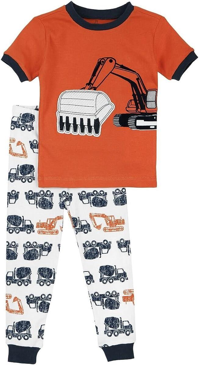 Petit Lem Little Boys Construction Trucks Pajama