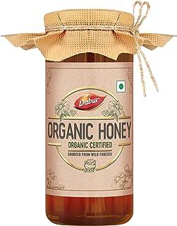 Dabur Organic Honey | 100% Pure and Natural | NPOP Organic Certified | Raw , Unprocessed , Unpasteurized Honey | No Sugar ...