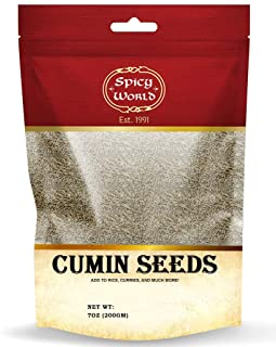 Spicy World Whole Cumin Seeds 7 Oz Resealable Bag