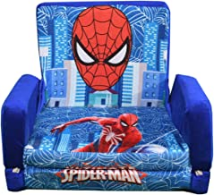 liyaan Trading Company Kids Sofa Cum Bed Spiderman Design Specially for 0 to 6 Years Kids for Comfort Sleep