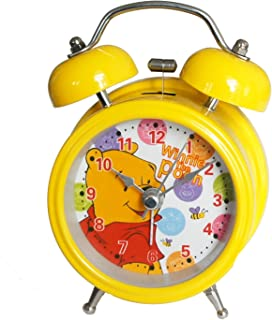HAND 6025B Extremely Silent Children Cartoon Metal Twin Bell Alarm Clock 3