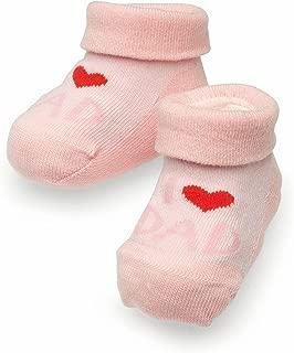 """0-6 Monate /""""I love Mum//Dad/"""" Wei/ße Babysocken aus Baumwolle von JianFeng f/ür Neugeborene geeignet f/ür Jungen und M/ädchen"""