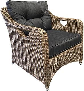 FurnitureOkay Liverpool Wicker Outdoor Lounge Armchair Patio Chair