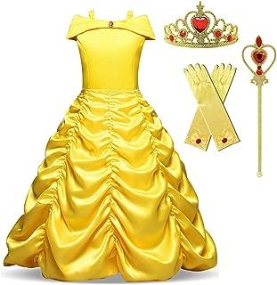 Princess Belle Costume Girls Halloween Party Carnival Fancy Dress