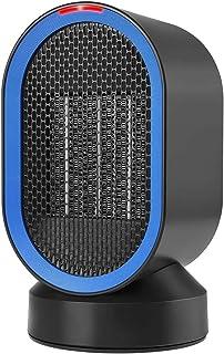 HUJUNG Ventilador de calefacción Ventilador en Movimiento, la función de oscilación de cerámica de acción rápida, Calentador de Espacio 600W 2 Modos Caliente radiador Naturales