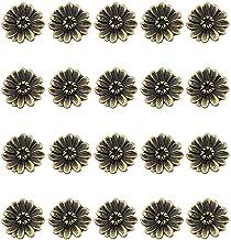 20 stks Brons Kabinet Knoppen Trekt Vintage Knop Creatieve Chrysant Dressoir Knoppen Lade Knoppen Garderobe Deur Handgreep...