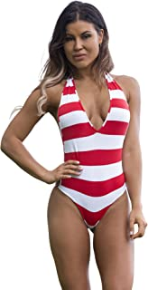Wicked Weasel Sexy Sailor Stripe - One-Piece (811) Women's Swimsuits