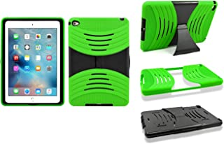 Apple iPad Mini 4 Heavy Duty Hard Armor Hybrid Kickstand Case Cover (Green)