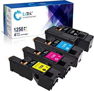 LxTek Compatible Toner Cartridge Replacement for Dell 1250 810WH C5GC3 XMX5D WM2JC to use with 1250c C1760nw C1765nfw C1765nf 1350cnw 1355cn 1355cnw Printer (Black Cyan Magenta Yellow, 4-Pack)
