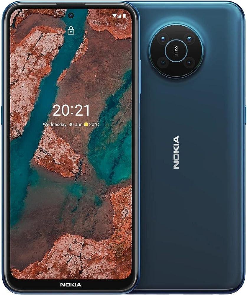 Nokia x20 - smartphone 5g dual sim android 11 128gb 8gb ram quad camera ottiche zeiss 101QKSLVH028