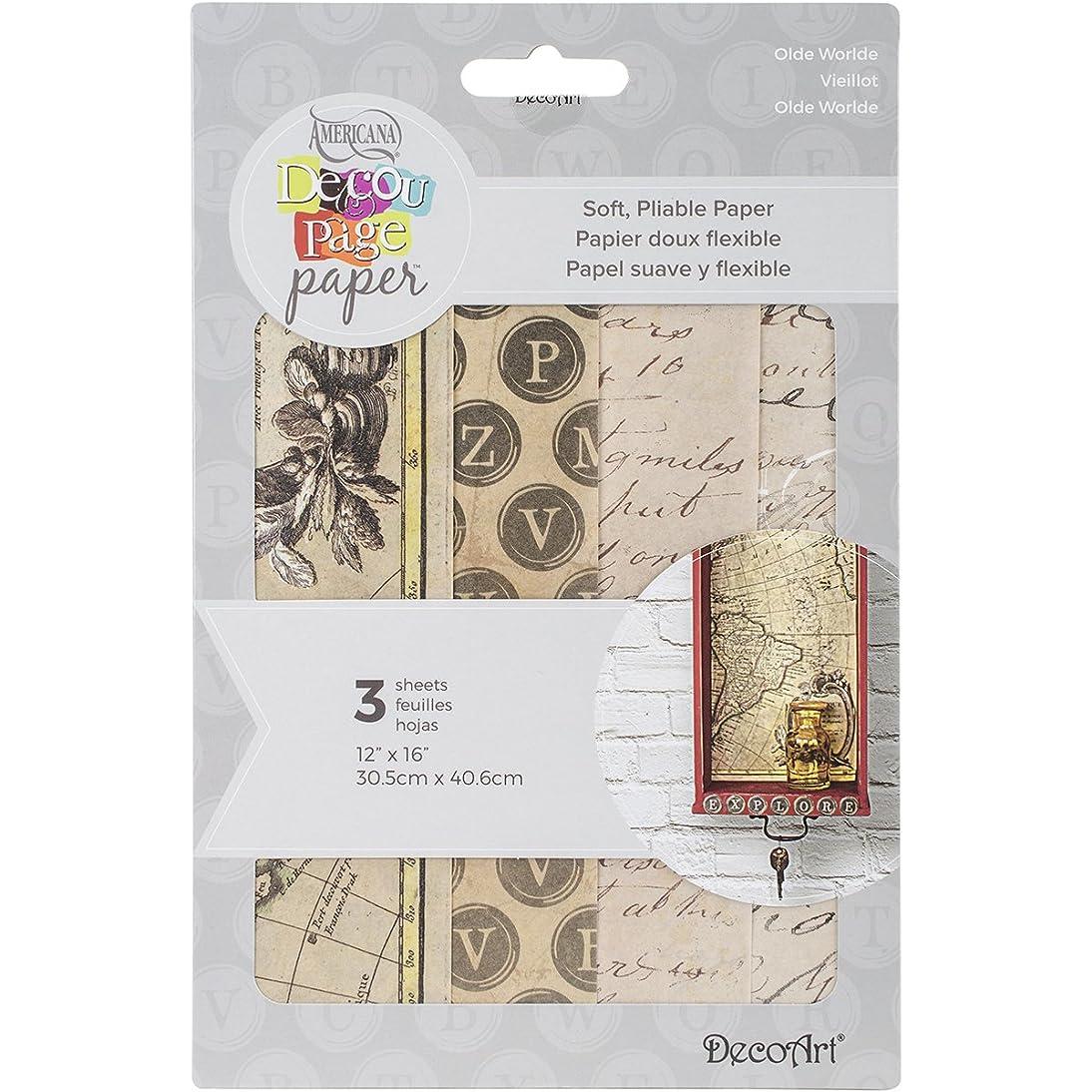 Deco Art Decoupage Paper (3 Pack), 12