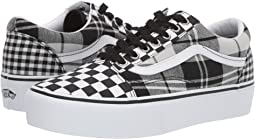 (Plaid Checkerboard) Black/True White