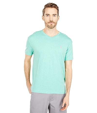 Polo Ralph Lauren Classic Fit V-Neck Tee (Resort Green Heather) Men
