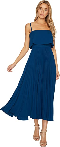 JILL JILL STUART - Pleated Popover Midi Dress