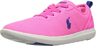 Polo Ralph Lauren Kids' Kasey Gore Sneaker Neon Pink 5 M US Big Kid