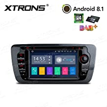 XTRONS Android 8.1 7 inch Touch Display Car Stereo Radio DVD Player GPS Navigator with USB SD Port Bluetooth 5.0 Supports OBD 1080P DVR 4G 3G for for Seat Ibiza 2009-2013