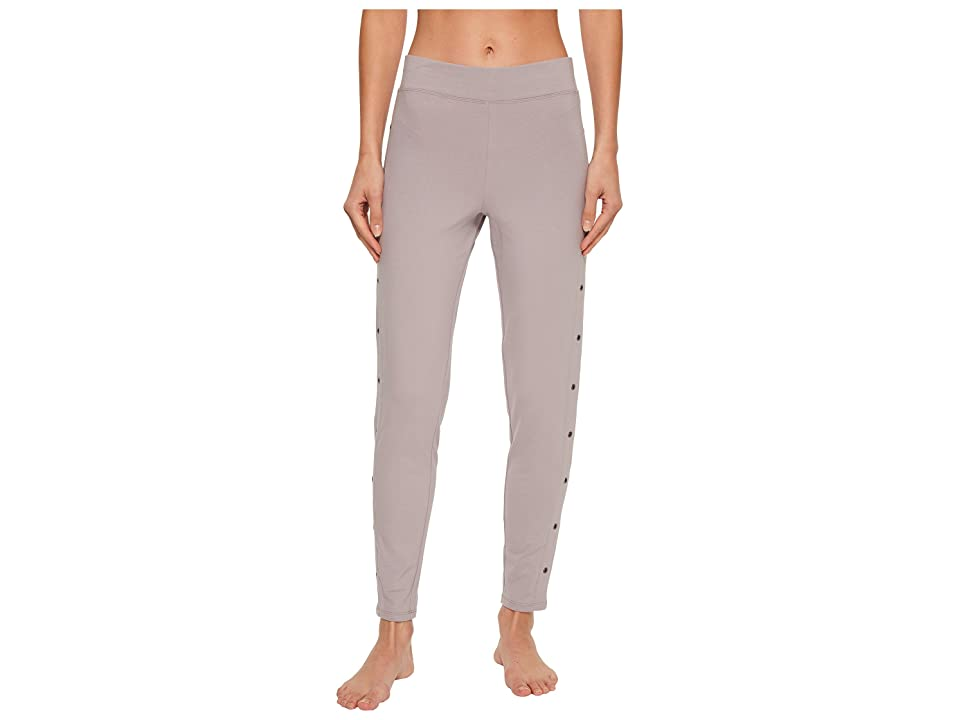 Yummie Compact Cotton Ankle Leggings with Grommets (Gull Gray) Women