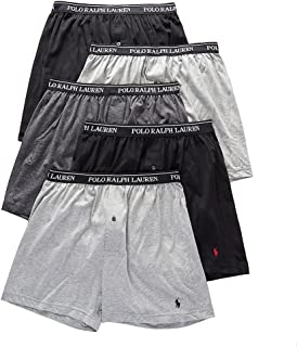 Classic Fit w/Wicking 5-Pack Boxers 2 Andover/1 Madison/2 Black LG