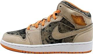 Nike Girls Jordan 1 (GS) Kids Basketball Shoes 322678-281 Birch/Light Melon/Black