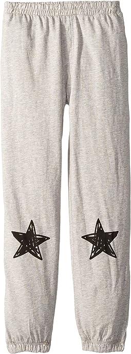 Soft Cotton Jersey Lounge Pants w/ Single Star on Leg (Big Kids)
