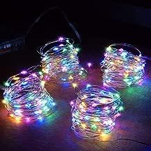 1m Dollhouse Miniature A String of multi-coloured plastic Christmas lights SL