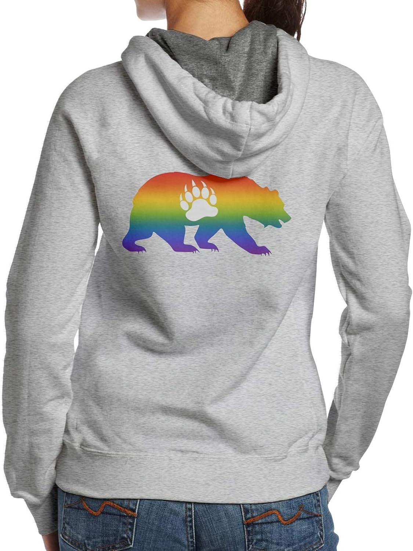 Gay SEAL limited product Lgbt Bear Max 81% OFF Flag Women'S Sweatshirt Fashion Hoodie Casual Hood