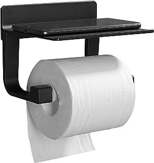 GERUIKE Porte Papier Toilette Aluminium Support Papier Toilette Antirouille Derouleur Papier WC Mural sans Percage Porte R...