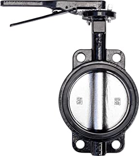 IrrigationKing RKLO6 Cast Iron Butterfly Valve, Lever Style, EPDM, Black, 6