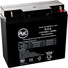 Homelite UT13126 12V 22Ah Lawn and Garden Replacement Battery - This is an AJC Brand Replacement