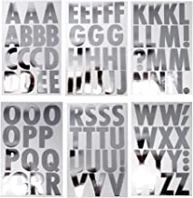 Homeford Big Font Alphabet Letter Stickers, Caps, 3-Inch, 26-Count (Metallic Silver)
