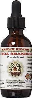 Senega Snakeroot Alcohol-FREE Liquid Extract, Senega Snakeroot (Polygala Senega) Dried Root Glycerite Herbal Supplement 2 oz