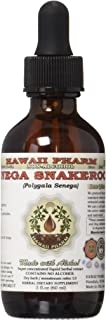 Senega Snakeroot Alcohol-FREE Liquid Extract, Senega Snakeroot (Polygala Senega) Dried Root Glycerite Herbal Supplement 2 oz
