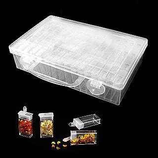 otutun Diamond Painting Box, 64 Compartiments Diamant Peinture Boîte, 5D Diamant Broderie Boîte Plastique Bijoux Organisat...
