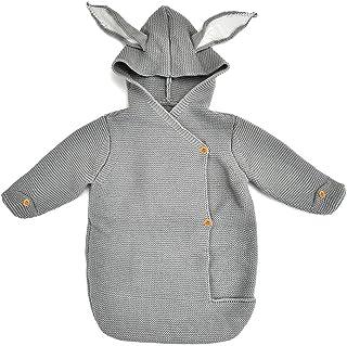 XFentech Baby Sleepsacks - Outdoor Casual Knitted Anti-Kick Quilt SleepingSacks with Feet 74CM,Gray