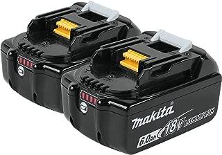 Makita BL1860B-2 18V LXT Lithium-Ion 6.0 Ah Battery (2 Pack)