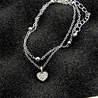 WEILYDF Delicated Anklet Summer Simple Women Beach Anklet Classic Heart Star Love Design Foot Chain Beautiful Ankle Bracelet