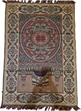 Arabian Style Carpet Ethnic Style Portable Travel Rugs (brown)