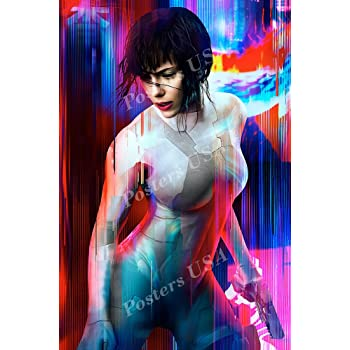 Amazon Com Posters Usa Ghost In The Shell 2017 Scarlett Johansson Textless Movie Poster Glossy Finish Fil011 24 X 36 61cm X 91 5cm Posters Prints