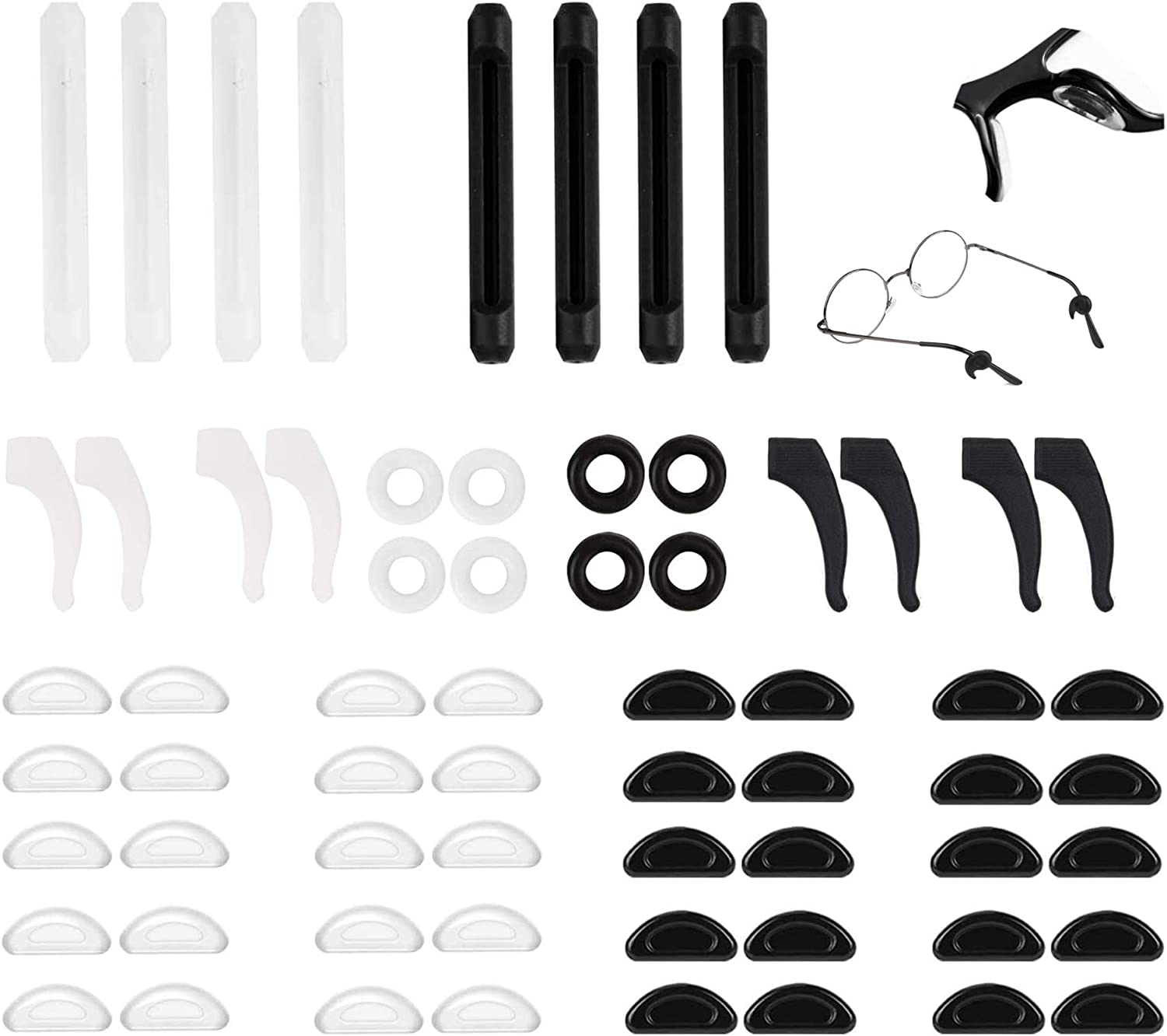 20 Pairs Max 79% Max 52% OFF OFF Eyeglass Nose Pads and Sticky 12 Retainer