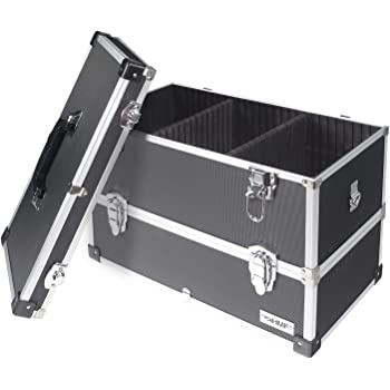 HMF 14660900 - Maletín de herramientas de aluminio, vacío, con separadores individuales, estantes a elegir, color negro: Amazon.es: Bricolaje y herramientas