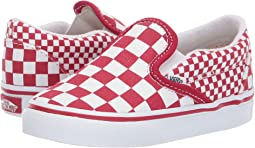 33b30d5520 (Mix Checker) Chili Pepper True White. 76. Vans Kids. Classic Slip-On  (Toddler)