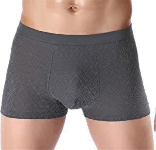 Men's Pack of 4 Boxer Shorts Elasticated Waist Breathable Underwear Boy Teenager Adult Comfortable E XXXL
