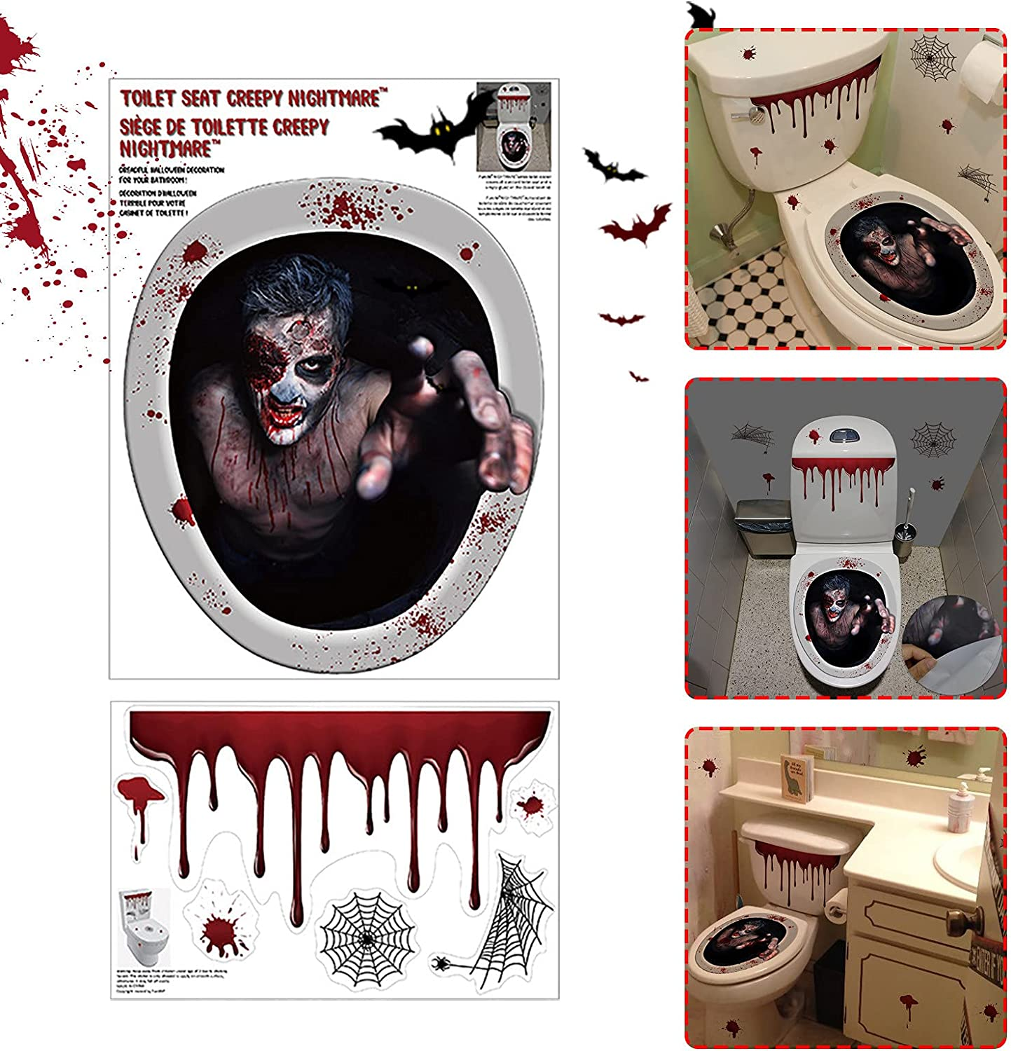 ZSWWang Halloween 3D Wall Stickers Special price for a limited time Decals Factory outlet Ceiling Floor Window
