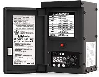 GOODSMANN 300 Watt Power Pack with Sensor and Weather Shield for Low Voltage Landscape Lighting and Spotlight Outdoor Transformer 120V Input 12V Output 9920-0300-01