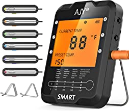 400FT&6 Probe Wireless Bluetooth Meat Thermometers for Cooking and Gilling【2021 Newest】 – AJY