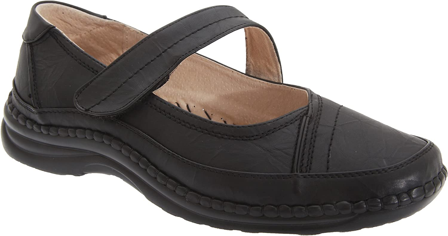 Womens Wide Fit Slippers Ladies Wide Fit Slippers Slip On Rubber Sole E//EE Width