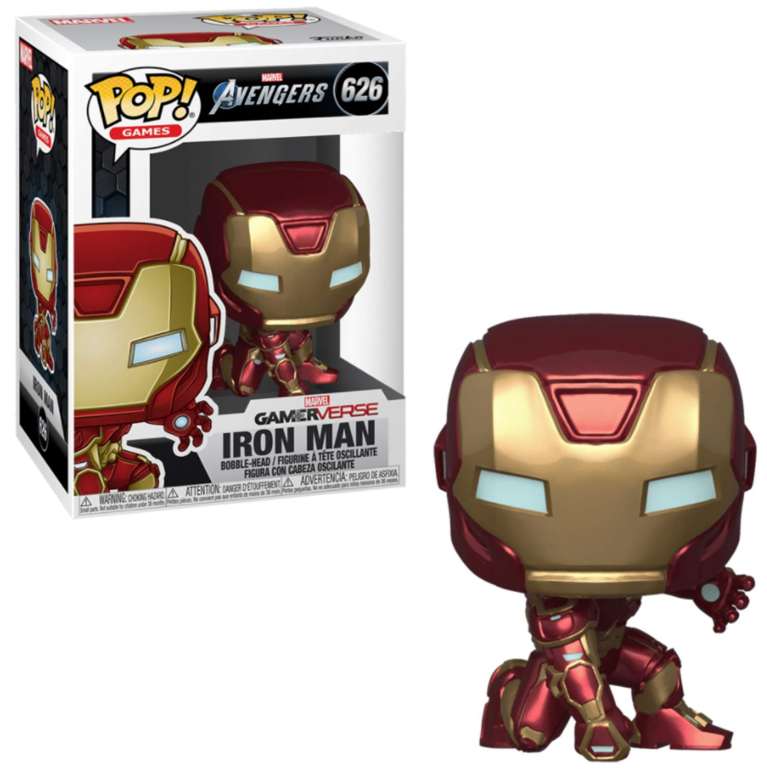 AVENGERS FUNKO POP 626 IRON MAN GAMERVERSE STARK TECH SUIT FIGURE TONY 9 CM